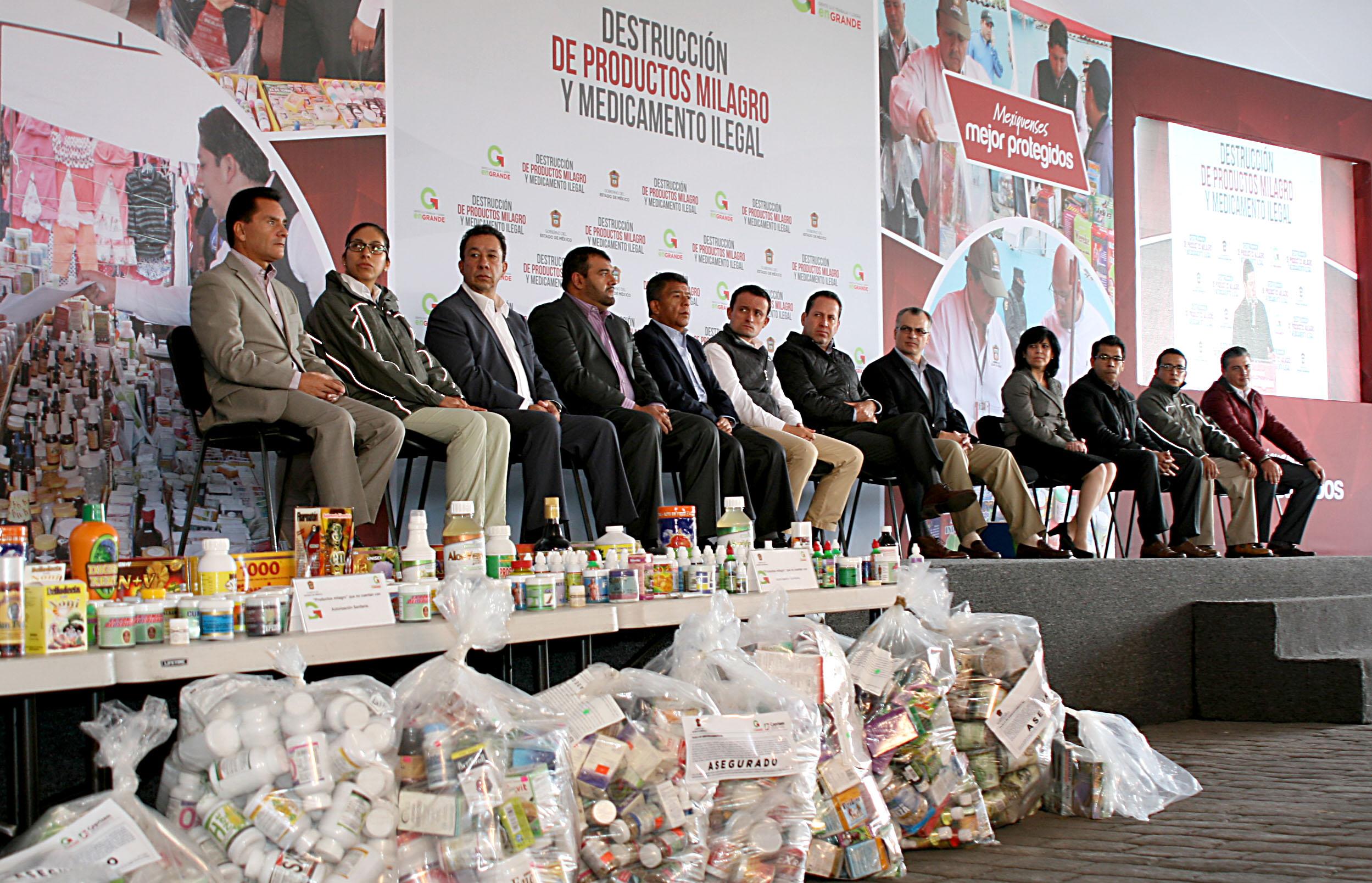 Se destruyen 10 toneladas de productos milagro y medicamentos ilegales