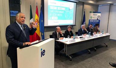 Esta mañana, el secretario de Turismo del Gobierno de México, Miguel Torruco Marqués, inició sus actividades en Madrid, en donde se encuentra para asistir a la Feria Internacional de Turismo de España.