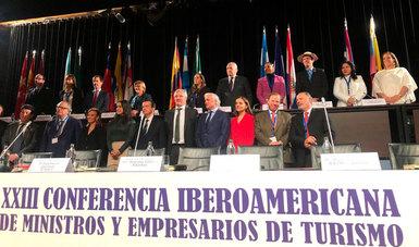 El secretario de Turismo del Gobierno de México, Miguel Torruco Marqués participo en la XXIII Conferencia Iberoamericana de Ministros y Empresarios de Turismo CIMET 2020.