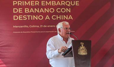 Inicia México exportación de plátano a China.