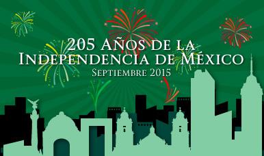 Festejos del 205 Aniversario de la Independencia de México.