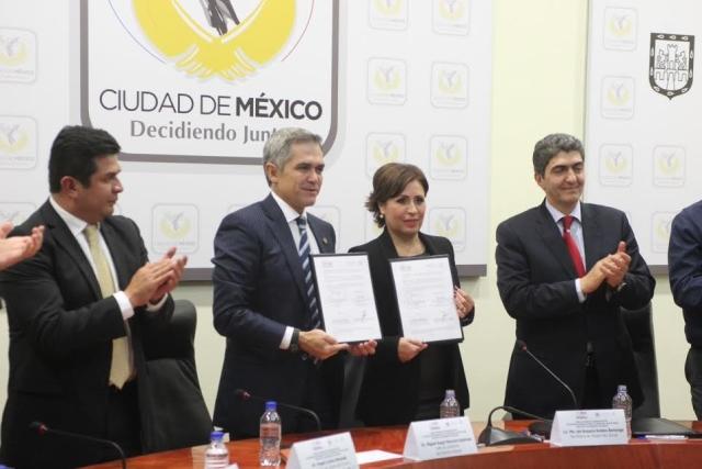 Firman Rosario Robles y Miguel Mancera un Acuerdo de Coordinación