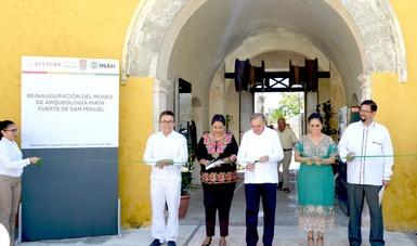 Este lunes reabrió sus puertas el Museo de Arqueología Maya (MAM), Fuerte de San Miguel. Fotografías: Dominguez Turriza Marilyn - Daniel Bustillos Ariel.