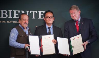 Mediante este instrumento de cooperación, México y Canadá reafirman su compromiso para colaborar en temas ambientales.