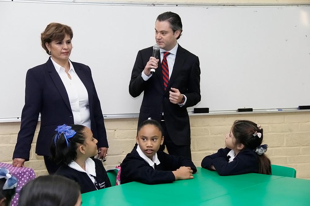 Intervención del secretario de Educación Pública, Aurelio Nuño Mayer durante su visita a la Escuela Primaria Dr. Agustín Rivera de la ciudad de México