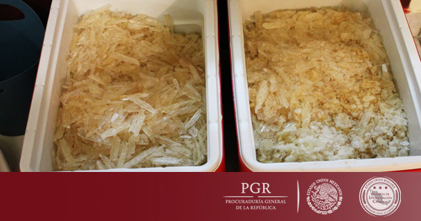 Asegura PGR más de 350 kilos de metanfetaminas