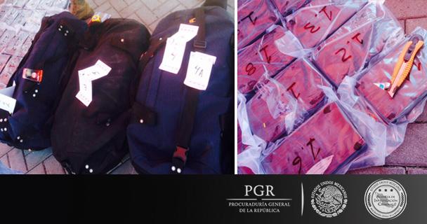 Asegura PGR 224 kilos de cocaína