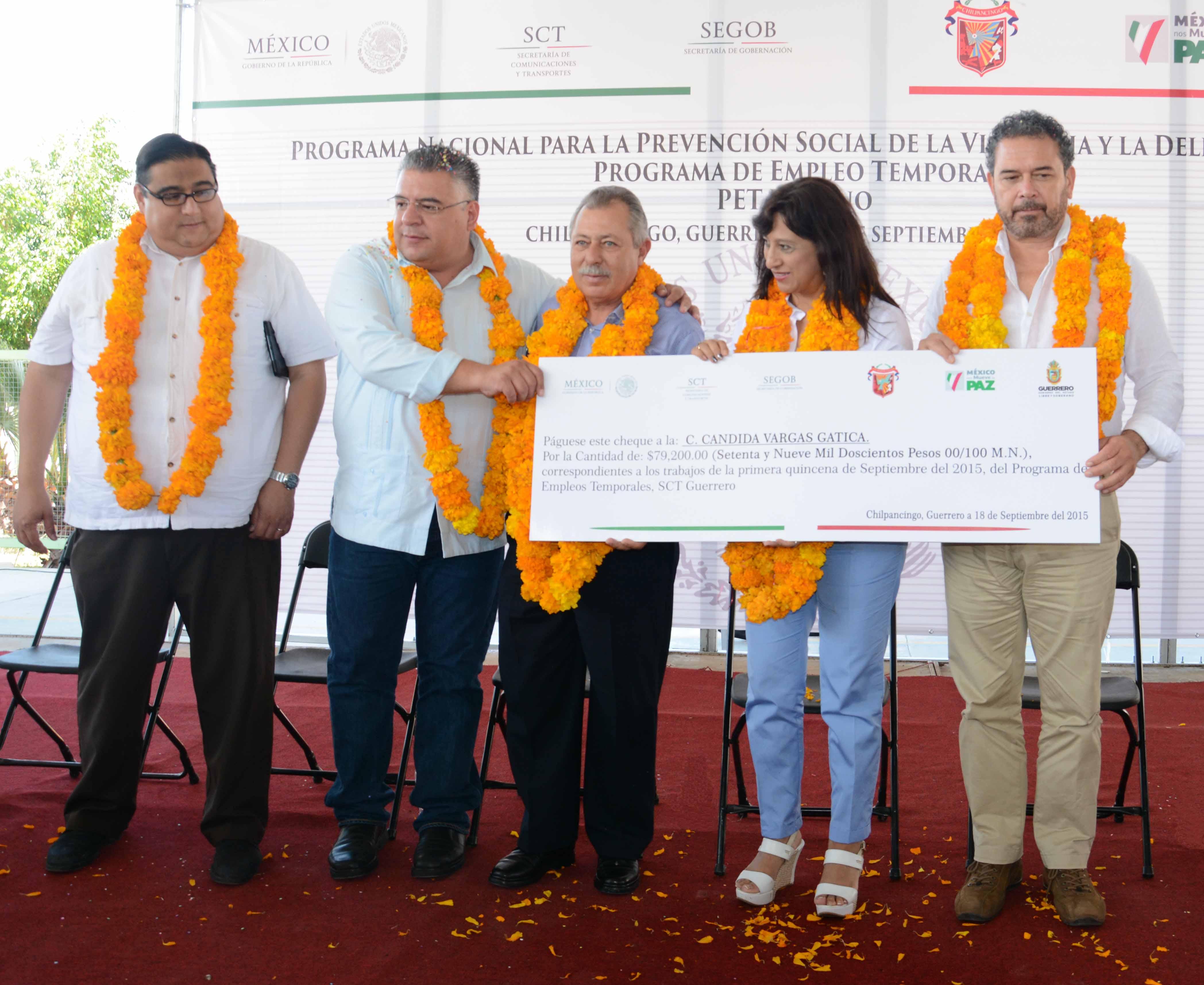 Inversión de 130 millones de pesos en programa de empleo temporal para Guerrero