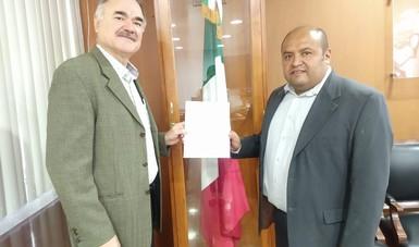Dr. Luis Ángel Rodríguez del Bosque con el nuevo Director del CENID SAI