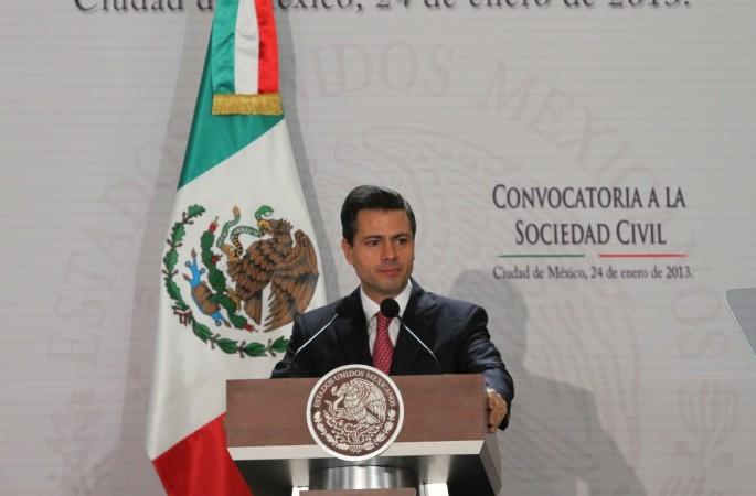 Presidente Enrique Peña Nieto en la Convocatoría a la Sociedad Civil