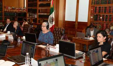 Realizan integrantes del gabinete federal reunión virtual con entidades previo a la presentación del plan del regreso a la nueva normalidad