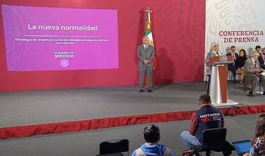 La secretaria de Economía, Graciela Márquez, presenta el plan de reapertura de las actividades sociales, educativas y económicas