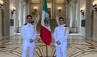 Elementos de la Secretaría de Marina-Armada de México se gradúan de la Academia de la Guardia Costera (USCGA) y la Academia Naval de Annpolis (USNA), de los Estados Unidos de América.