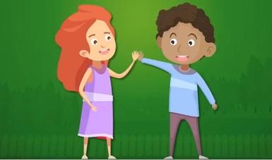 Ilustración de niña y niño