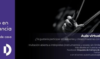 Aula virtual, proyecto de la OCBA para dar clases al público, a estudiantes y músicos.