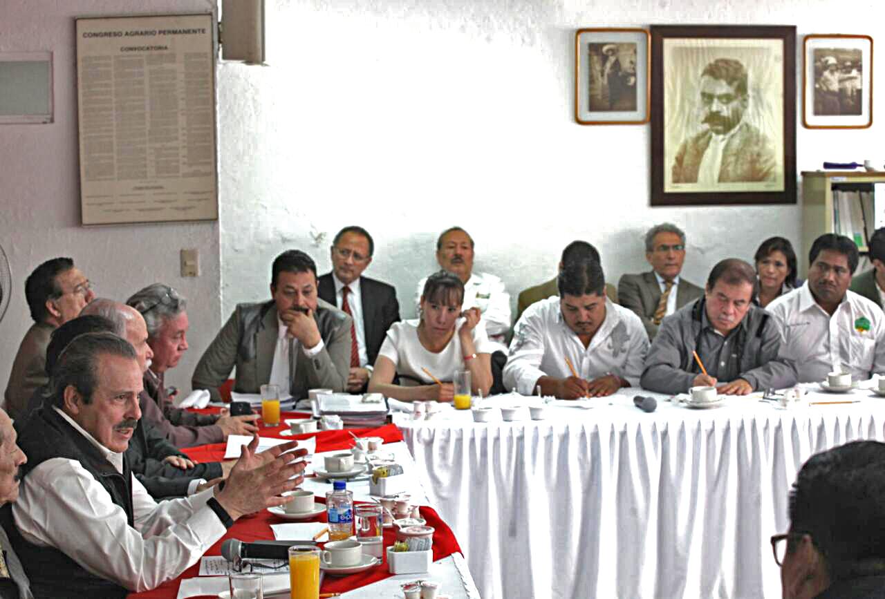 El secretario de Agricultura, Ganadería, Desarrollo Rural, Pesca y Alimentación, Enrique Martínez y Martínez, sostuvo un encuentro con dirigentes de las organizaciones que integran el Congreso Agrario Permanente (CAP).