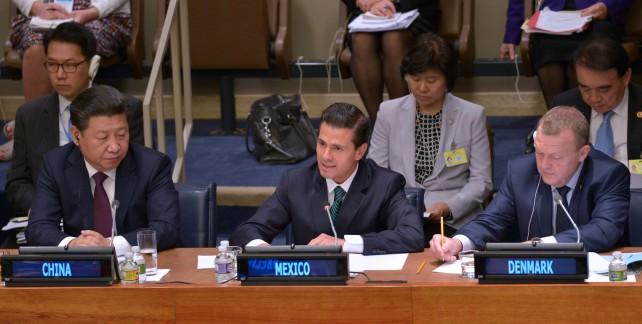 """""""Ahora, en el 70 Aniversario de la ONU, de nuevo estamos dando un paso trascendental al incorporar la perspectiva de género como eje rector de la Agenda 2030 para el Desarrollo Sostenible"""", Presidente Enrique Peña Nieto."""