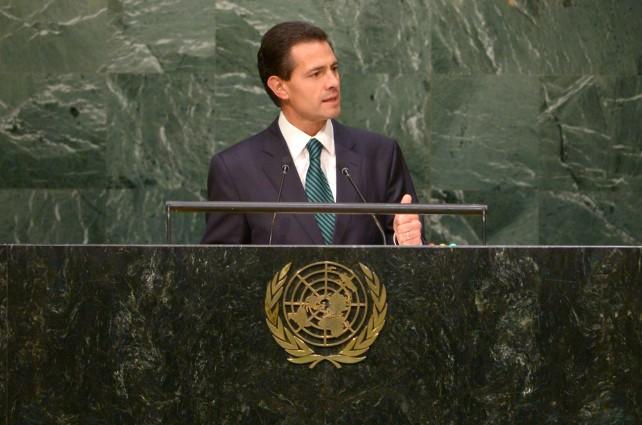 Presidente Enrique Peña Nieto selñalá que México hospedará, en 2016, la Conferencia de las Partes de la Convención sobre Biodiversidad.