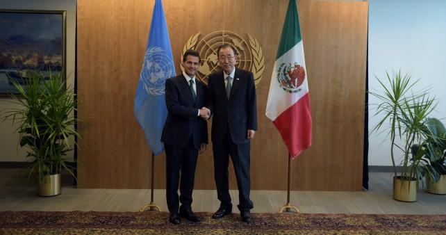 Ban Ki-Moon felicitó a México por la exitosa celebración de la Primera Conferencia de los Estados Parte del Tratado sobre el Comercio de Armas.