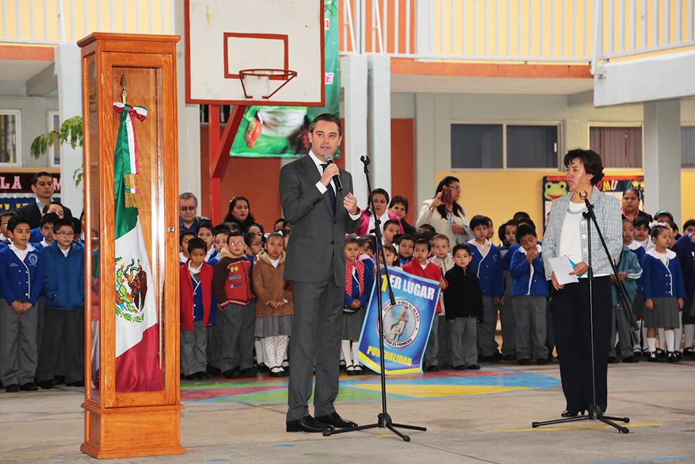 Intervención del secretario de Educación Pública, Aurelio Nuño Mayer, en la escuela primaria Mi patria es primero