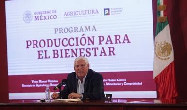 Avanza Producción para el Bienestar; sus propósitos son de justicia social y de apoyo de fomento productivo