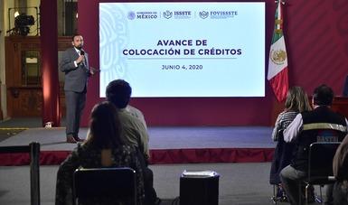 En conferencia de prensa en Palacio Nacional, el Vocal Ejecutivo del Fondo, Agustín Gustavo Rodríguez López, indicó que esas cifras representan un avance de 40 por ciento de la meta anual