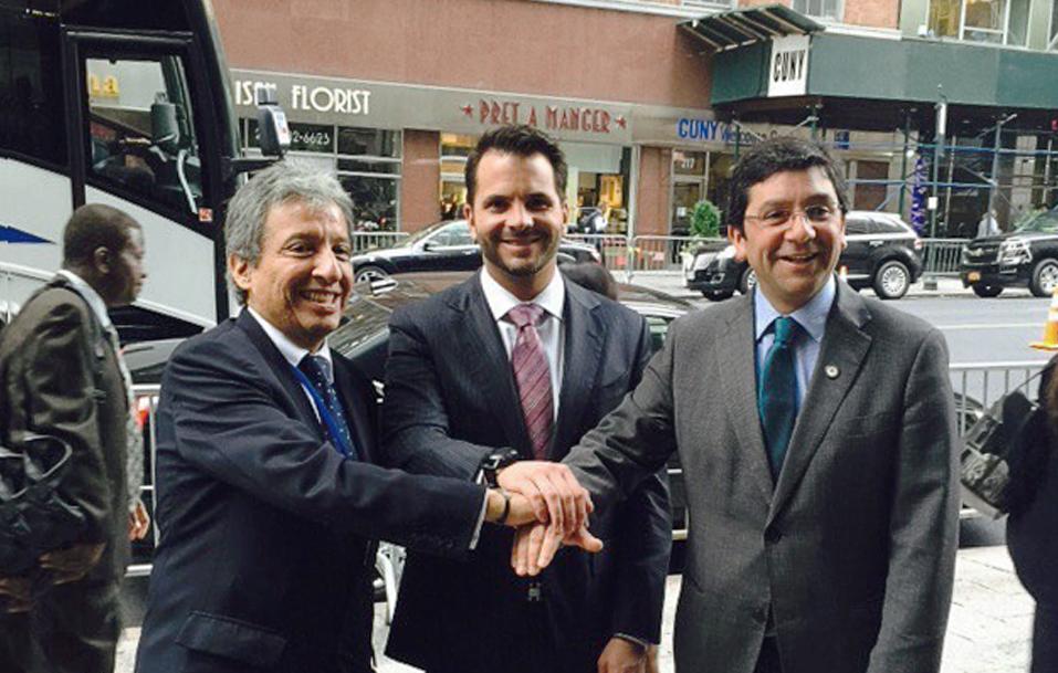 Ministros de medio ambiente de México, Chile y Perú.