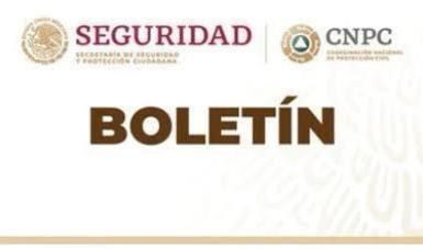 Se emite declaratoria de emergencia para veintiseis municipios en el estado de Yucatán.
