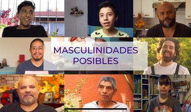 fotografías de hombres con el título masculinidades posibles