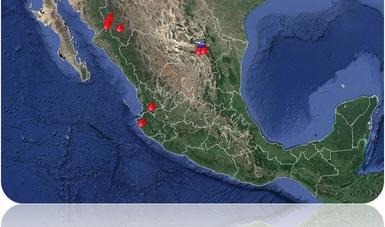 Mapa de la situación de incendios forestales