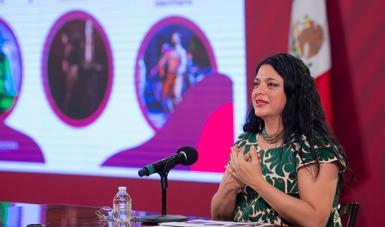 Participa la Secretaria de Cultura en la conferencia de prensa Avances y Resultados de los Programas Bienestar y Reactivación Económica.