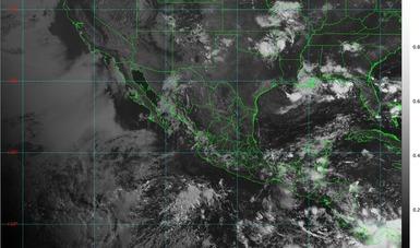 Mapa satelital de la República Mexicanana.