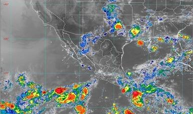 Imagen satelital de la República Mexicana.