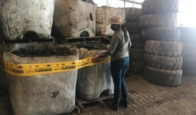 Suspende Profepa actividades de una empresa que manejaba de manera inadecuada residuos peligrosos, en Nuevo León