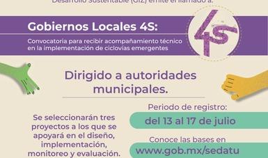 Lanza Sedatu Convocatoria para gobiernos locales sobre Movilidad 4S