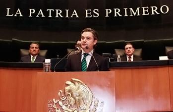 Participación del secretario de Educación Pública, Aurelio Nuño Mayer, durante su comparecencia ante el Pleno del Senado de la República