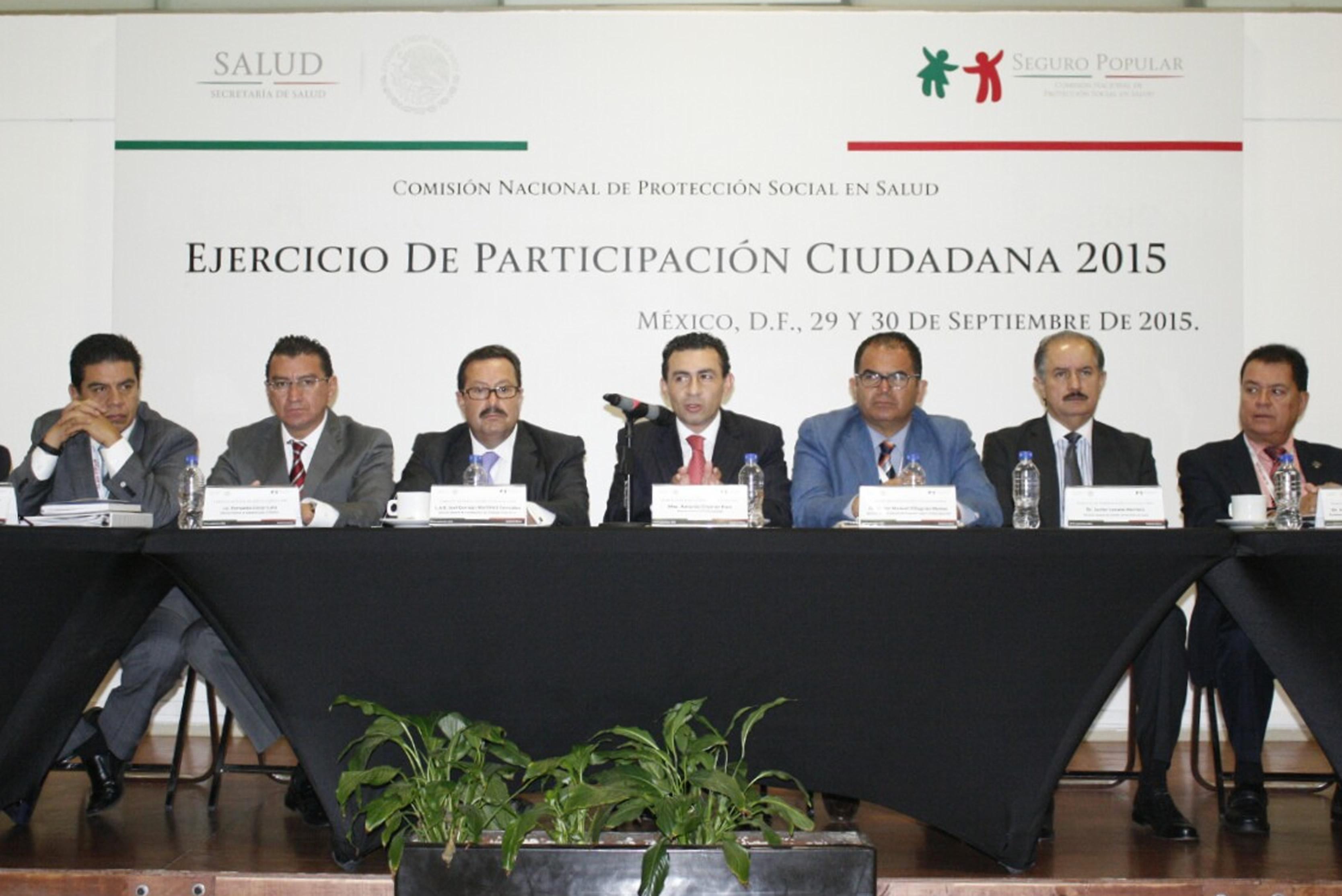 La Comisión Nacional de Protección Social en Salud, realiza foro Ejercicio de Participación Ciudadana 2015.