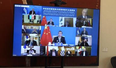 Videoconferencia Especial entre Cancilleres de China y de América Latina y el Caribe para atención de la pandemia por Covid-19