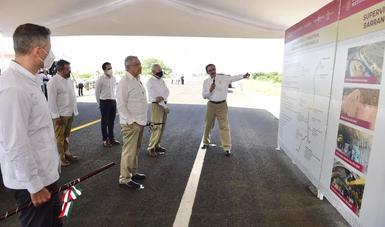 Supervisión del avance de la autopista Barranca Larga-Ventanilla, en Oaxaca