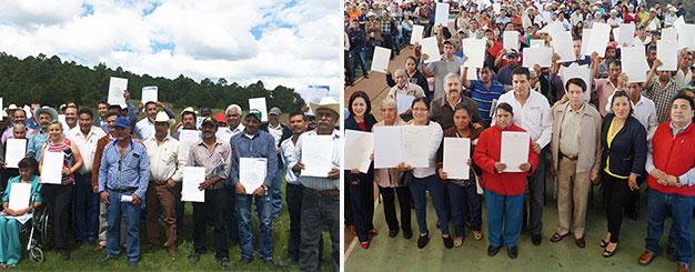 Resultan beneficiadas más de 22 mil familias de 961 ejidos, en 299 municipios del país en la tenencia de sus tierras.