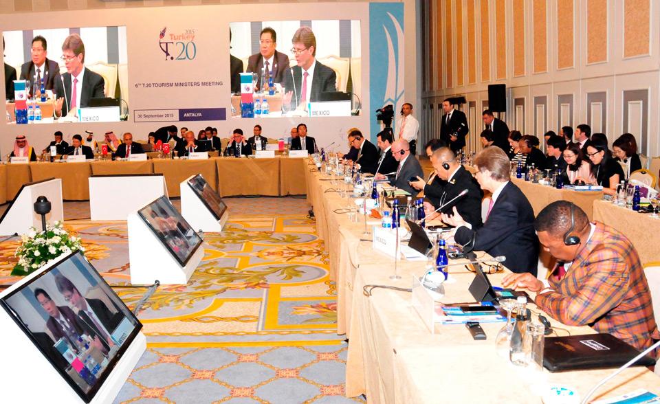 Concluyó la Reunión de Ministros del G-20 en Antalaya, Turquía, donde participó el Secretario de Turismo de México, Enrique de la Madrid Cordero.
