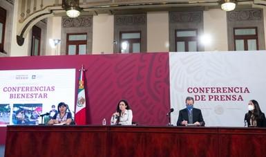 Conferencia de prensa de los programas de bienestar.