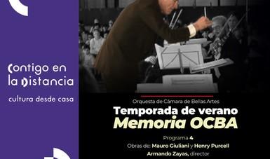 La Temporada de verano Memoria OCBA continúa sus transmisiones en línea.