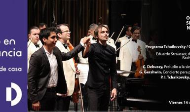 La Orquesta Sinfónica Nacional presenta un concierto virtual desde el Palacio de Bellas Artes.