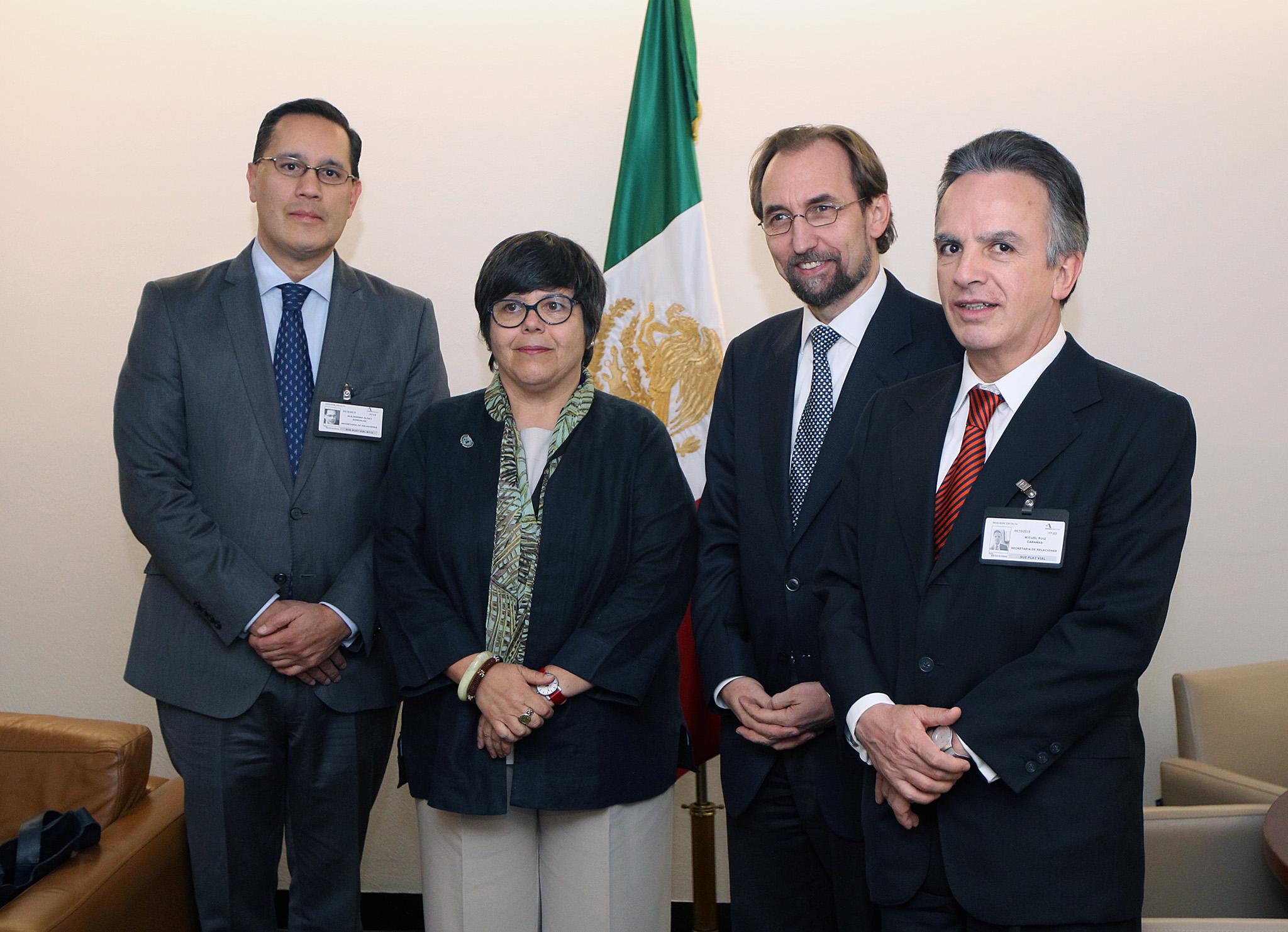 Llegada a México del Alto Comisoonado de las Naciones Unidas para los Derechos Humanos, Zeid Ra'ad Al Hussein.