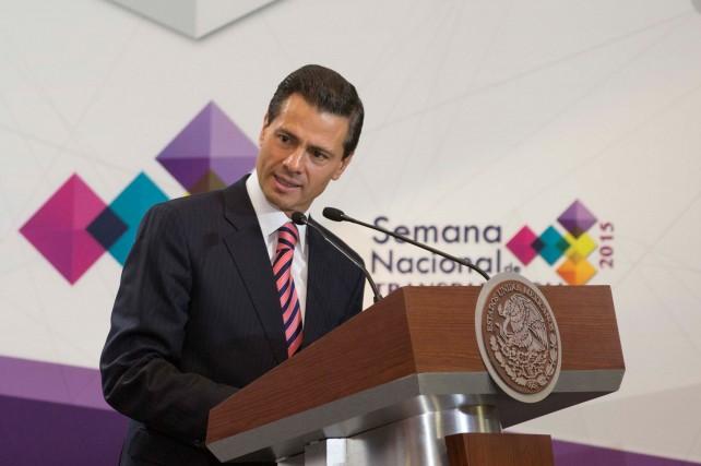 """""""El año pasado, en este mismo foro, señalé que la transparencia ha evolucionado a la par de nuestro régimen democrático"""", enfatizó el Presiente Peña Nieto."""
