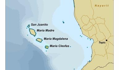 mapa de la ubicación del Sector Naval de IslasMarias