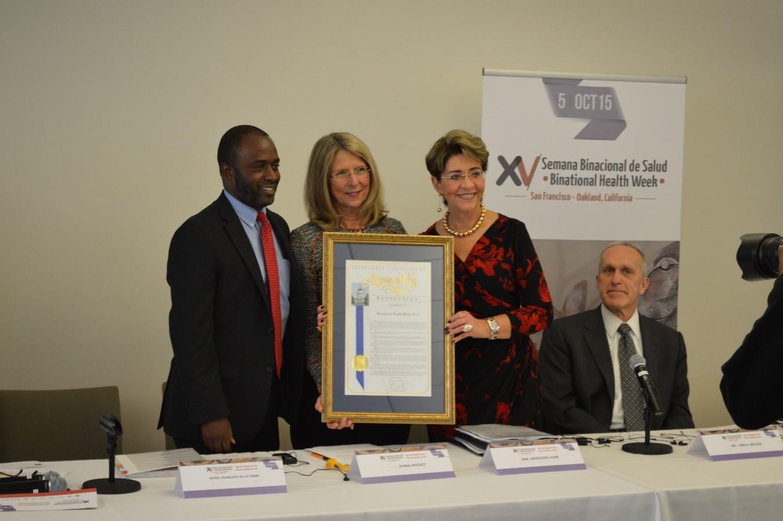 La Secretaria de Salud encabezó el inicio de la Semana Binacional de Salud, en Oakland, California, Estados Unidos.