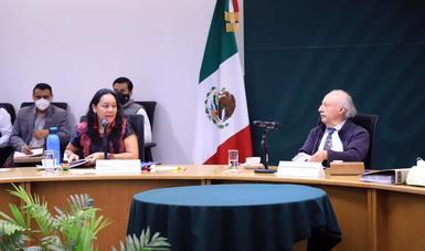 María Luisa Albores González encabezó su primera reunión de trabajo como titular de la Secretaría de Medio Ambiente y Recursos Naturales.