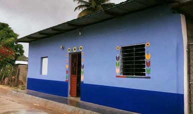 Vivienda rehabilitada en Chiapas, a través del Programa Nacional de Reconstrucción.